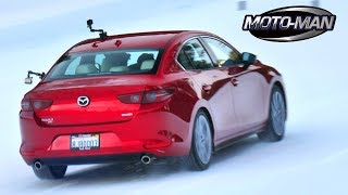 Driving the 2019 Mazda 3 AWD on Snow and Ice! TECH REVIEW