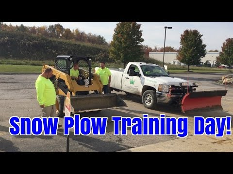 Snow Plow Training Day! How to use Snow Plow Trucks & Equipment