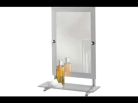 Argos Frosted Edge Rectangular Mirror with Glass Shelf. 832/2522