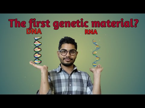 The first genetic material - DNA or RNA ?