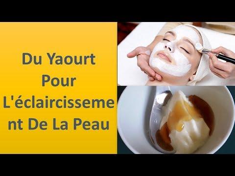 Du yaourt pour l'Éclaircissement de la peau