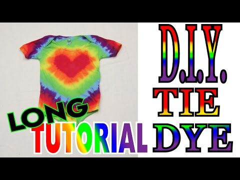 Tie Dye Heart Rainbow Baby Outfit [Long Tutorial] #63