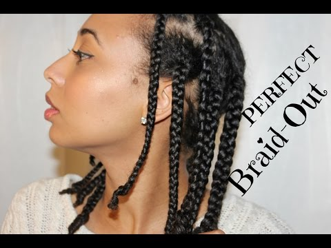 NATURAL HAIR| The PERFECT Braid Out! Super Defined!