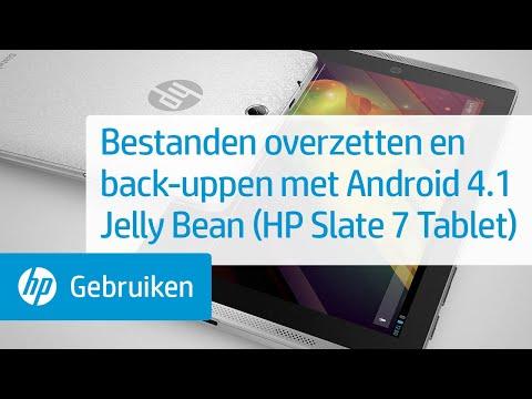 Bestanden overzetten en back-uppen met Android 4.1 Jelly Bean (HP Slate 7 Tablet)