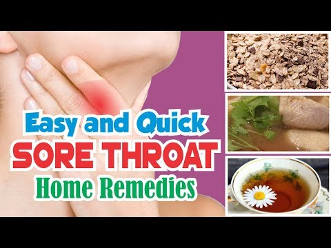 Easy and Quick Cure Sore Throat at HOME - Best Natural Remedies