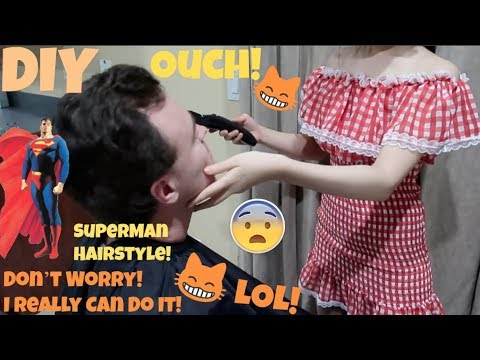 Wife Cuts Husband's Hair Challenge! Is It Superman Hairstyle? LOL!