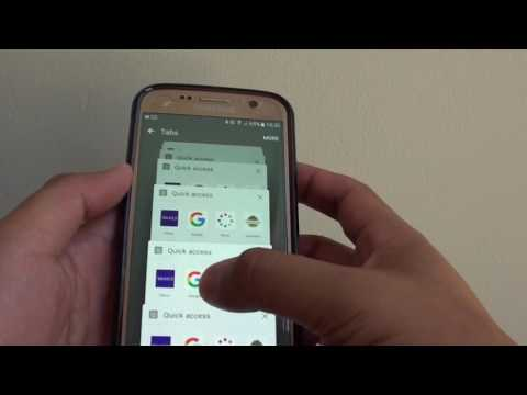 Samsung Galaxy S7: How to Close all Internet Browser Tabs at Once