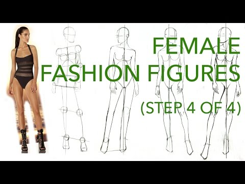 How to Draw Fashion Figures: Step 4 of 4: Correcting & Perfecting