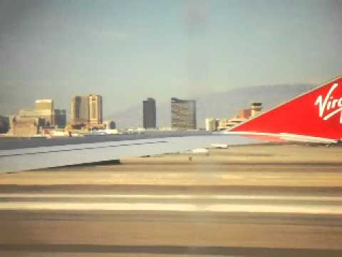 Arriving In Las Vegas - Virgin Flight VS085 From Manchester to Mccarran airport
