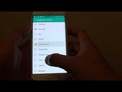 Samsung Galaxy S6 Edge: How to Change Text Messages Notification Sound