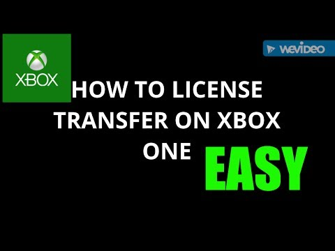 HOW TO LICENSE TRANSFER ON XBOX ONE WORKING 2018 (EASY)