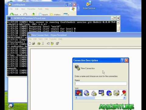 MineCraft mcTelnet + HyperTerminal SMP Remote Server Control