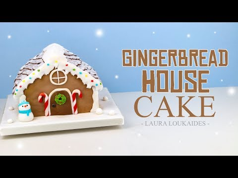 How to Make a Gingerbread House Cake - Laura Loukaides