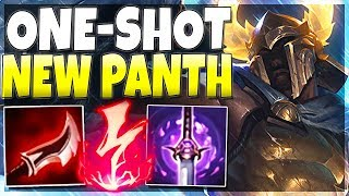 This ONE-SHOT build on New Panth is 100% *UNFAIR* wtf - Full AD Pantheon Rework Gameplay | LoL