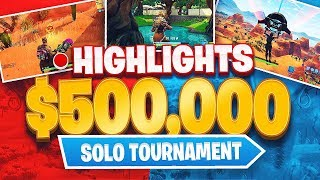 I won $28,000 playing Fortnite!! (Fortnite Solo Tournament Highlights)