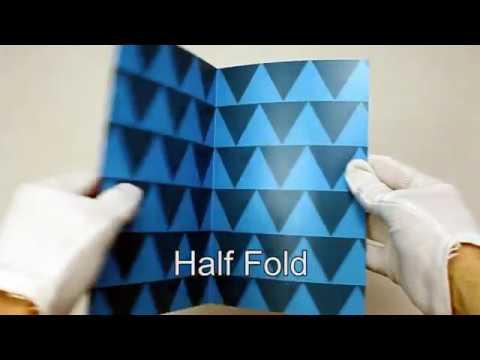 Standard Brochure Folding Options   Clubcard TV