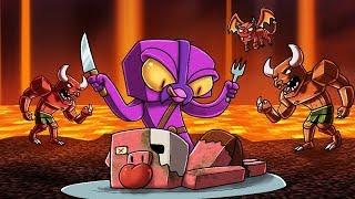 Crazy Minecraft - Slicing Up Nether Mobs In Grinder!