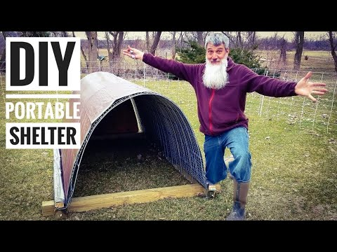 HOW TO build a portable GOAT fort (shelter)