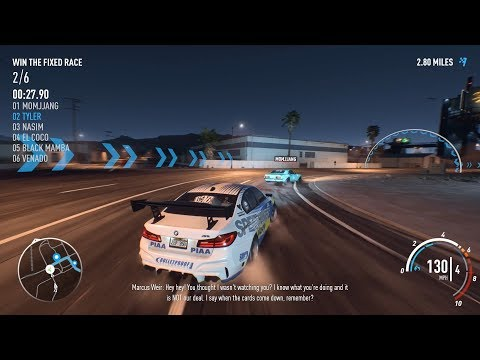 Need For Speed Payback - 2017 BMW M5 race