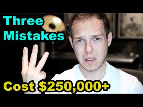 The 3 ways I LOST over $250,000 as a Real Estate Agent