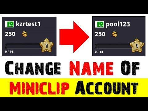 How to Change 8 Ball Pool Miniclip Account Name | New Trick 2018