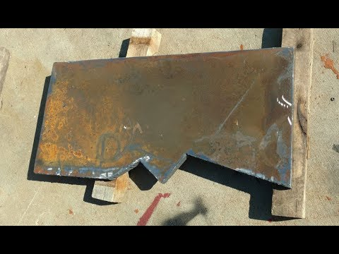 Log Splitter Homemade 45 Ton - Step 9 Cutting the blade
