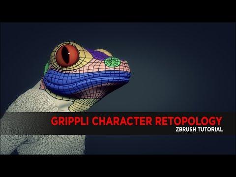 Grippli Character Retopology using Zbrush : Tutorial
