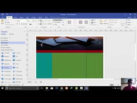 Tutorial membuat Desain Interfaces Website dengan Ms  Visio 2016