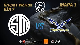 TSM VS FLASH WOLVES - GRUPOS - WORLDS 2017 - DÍA 7