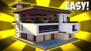 Minecraft How To Build A Large Modern House Videos Circle