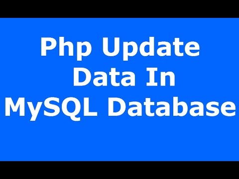 Php : How To Update Data In MySQL Database Using Php MySQLI [ with source code ]