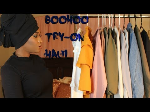 boohoo try on haul