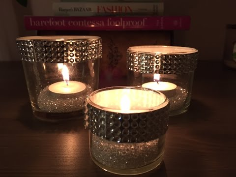DIY Crystal Candle Holder