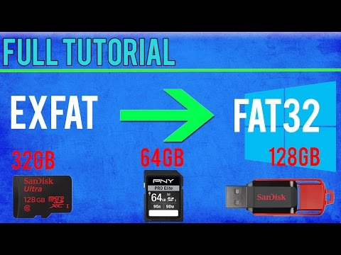 Format 64GB+ SD Card/Memory Stick to FAT32 Win 10/8.1/8/7/Vista