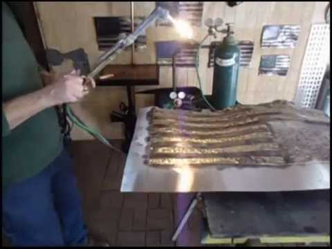 How To Make A Rustic Metal Flag With A Torch