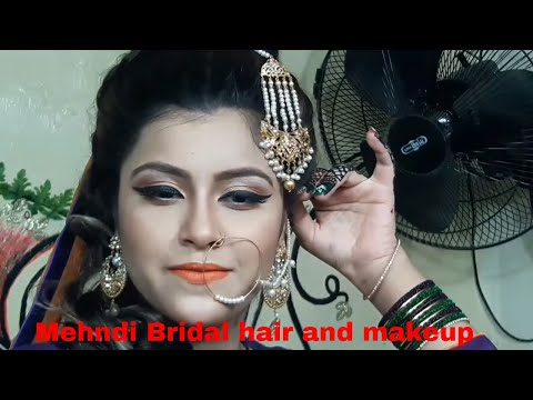 Mehndi Bridal hair and makeup(nazia bilal)