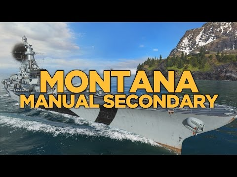 World of Warships - Montana Manual Secondary