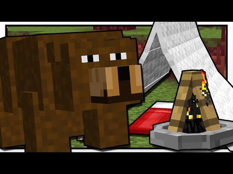 Minecraft | CAMPING BEAR ATTACK!! | Custom Mod Adventure