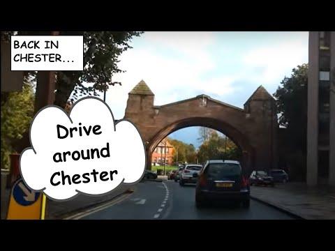 Drive around Chester City Centre and Handbridge