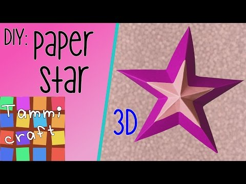 How to Make a 3D Paper Star - Tutorial