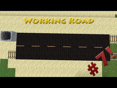 Minecraft - How to make a Working Road - Detail Tutorial #7