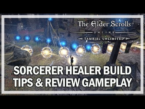 SORCERER HEALER BUILD GAMEPLAY REVIEW - The Elder Scrolls Online (Xbox PS4 PC)