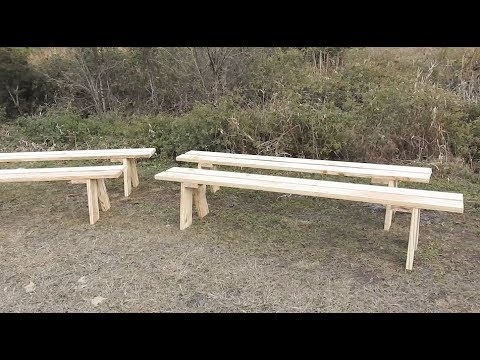 How to Build Rustic Wedding Benches