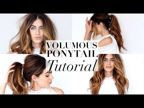 MESSY VOLUMINOUS PONYTAIL TUTORIAL | Lydia Elise Millen