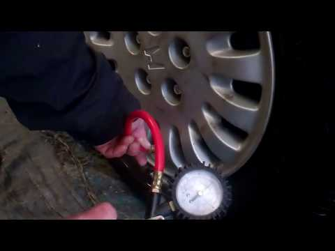 How to check tire air pressure, and inflate a car tire
