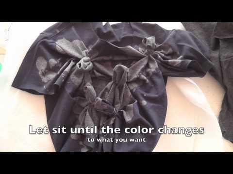 DIY 3 Shirts: Reverse tie dye, bleached writing, fringe!
