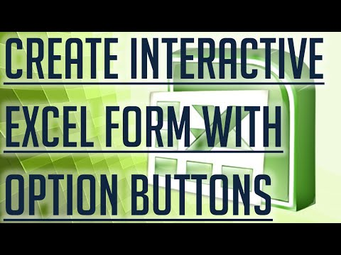 [Free Excel Tutorial] CREATE INTERACTIVE EXCEL FORMS BY INCLUDING OPTION BUTTONS - Full HD