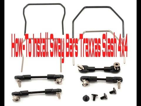 HDRC GUIDES: How to Install  Front and Rear Sway Bars Traxxas TRX 6898