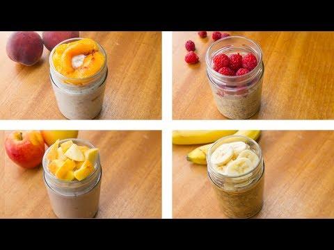 Overnight Oats Recipes 4 Ways ! Healthy Overnight Oats