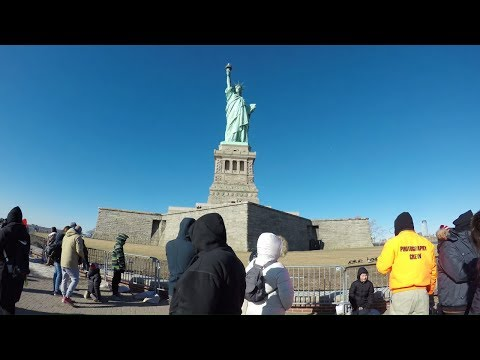 ⁴ᴷ Walking Tour of Liberty Island, NYC where the Statue of Liberty is located